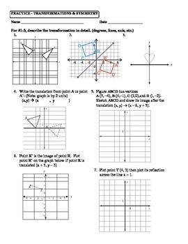 Geometry Unit 1 Transformations Reflection Translation Ref