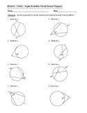 Geometry Unit 10 - Circle Angles form by chords secants ta