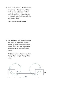 Geometry Unit 10 - Circle Area Circumference Sector Area ...