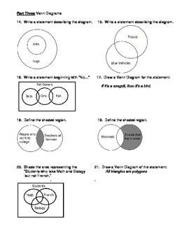logic venn diagram examples geometry unit 2 logic symbols and venn diagrams worksheet logic venn diagram #3