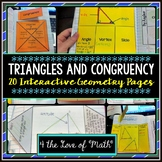 Triangles/Congruency: Interactive Notebook Pages (20pgs)