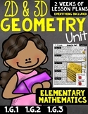 Geometry Unit 2D and 3D Shapes