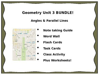 Geometry Unit 3 - BUNDLE Parallel Lines