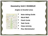 Geometry Unit 3 - BUNDLE Parallel Lines