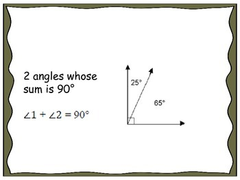 Geometry Unit 3 Flash Cards - Angles and Parallel Lines