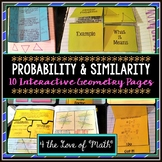 Probability & Similarity: Geometry Interactive Notebook Pages