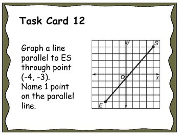Geometry Unit 3 Task Cards Review - Angles and Parallel Lines