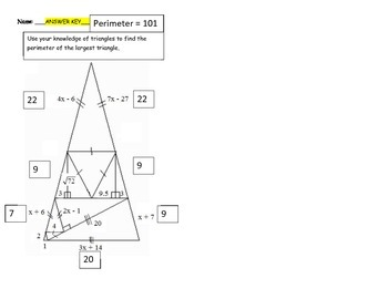 Geometry Unit 4 Activity - Triangles Worksheet