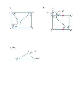 Geometry - Unit 4 - Congruent Triangles