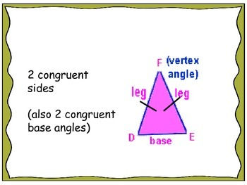 Geometry Unit 4 Flash Cards - Triangles