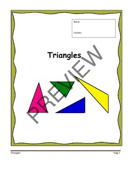 Geometry Unit 4 Notetaking Guide - Triangles