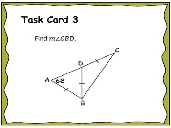Geometry Unit 4 Task Cards Review - Triangles