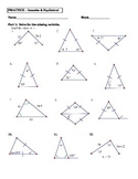 Geometry Unit 4 Triangles Isosceles and Equilateral Worksheet