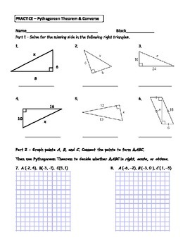 converse pythagorean theorem worksheet kidz activities. Black Bedroom Furniture Sets. Home Design Ideas
