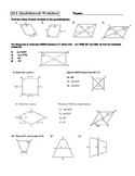 Geometry Parallelogram Rectangle Square Rhombus Trapezoid Worksheet Activity