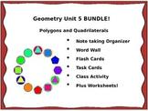 Geometry Unit 5 BUNDLE Polygons Quadrilaterals