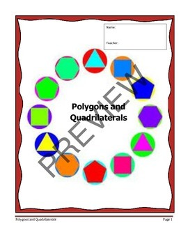 Geometry Unit 5 Notetaking Guide - Polygons Quadrilaterals