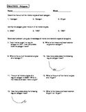 Geometry Unit 5 Polygons Angles Practice Worksheet Regular and Irregular