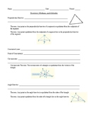 Geometry - Unit 5 - Relationships in Triangles