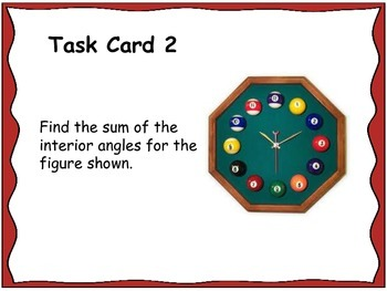 Geometry Unit 5 Task Cards Review - Polygons Quadrilaterals