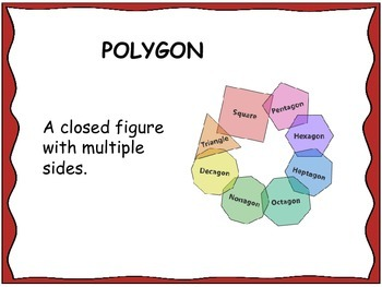 Geometry Unit 5 Word Wall - Polygons Quadrilaterals