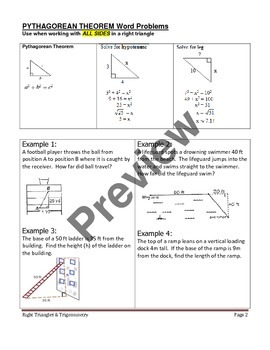 Geometry Unit 6 Notetaking Guide - Right Triangles and Trigonometry