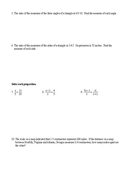 Geometry - Unit 6 - Proportions and Similarity