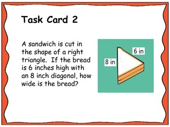 Geometry Unit 6 Task Cards Review - Right Triangles and Trigonometry