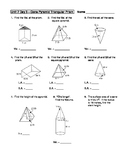 Geometry Unit 7 Cone Pyramid Triangular Prism Surface Area