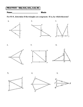 aas triangle congruence worksheet breadandhearth. Black Bedroom Furniture Sets. Home Design Ideas