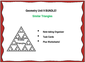 Geometry Unit 9 BUNDLE Similar Triangles