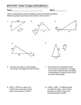 similar triangles word problems worksheet resultinfos. Black Bedroom Furniture Sets. Home Design Ideas