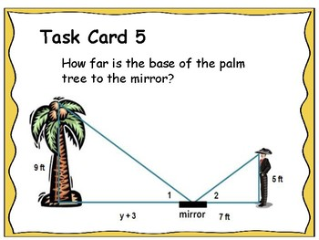Geometry Unit 9 Task Cards Review - Similar Triangles