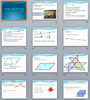 Geometry Unit BUNDLE – PowerPoints, Fill-in-the-blanks Notes, Practice, & Proofs