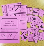 Geometry Unit Bundle - 4th Grade Geometry Vocab - TOTDs - Assessments