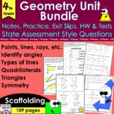 Geometry Unit Bundle: notes, CCLS practice, exit slips, HW