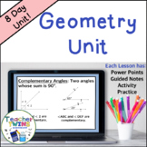 Geometry Unit Common Core 7 G2 & G5