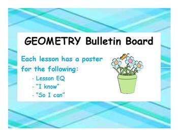 Geometry Unit EQ Bulletin Board