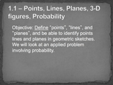 Geometry Unit Plan 1 - Points, Lines, Planes