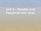 Geometry Unit 3 Bundle - Parallel Perpendicular Lines Equations (13 Days)