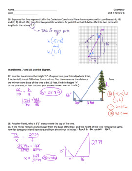 Geometry Unit Plan 6 - Similarity