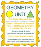 Geometry Unit ~ Plane and Solid Shapes, Pattern Block Activity, SMART Notebook