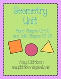 Geometry Unit: Plane and Solid Shapes