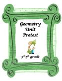 Geometry Unit PreTest