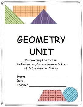 Geometry Unit Printables-Common Core