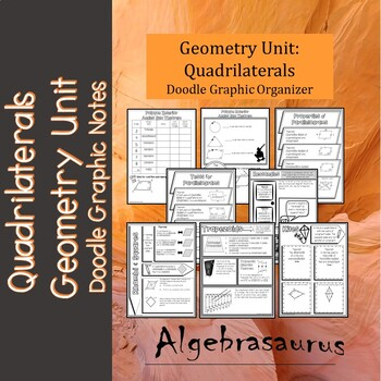 Geometry unit 8 pages quadrilaterals doodle notes or graphic organizer ccuart Gallery