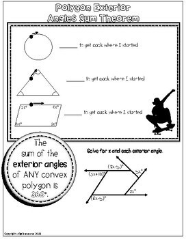 Geometry Unit: 8 PAGES Quadrilaterals Doodle Notes or Graphic Organizer