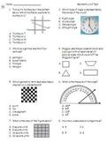 Geometry Unit Test (Math EnVision Grade 4)