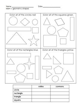 Geometry Unit {first grade}