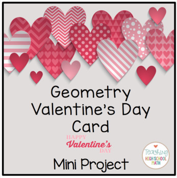 Geometry Valentine Card and Poem Project